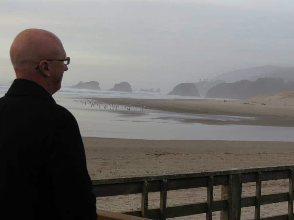 Jim on the Foggy Beach – Looking Away